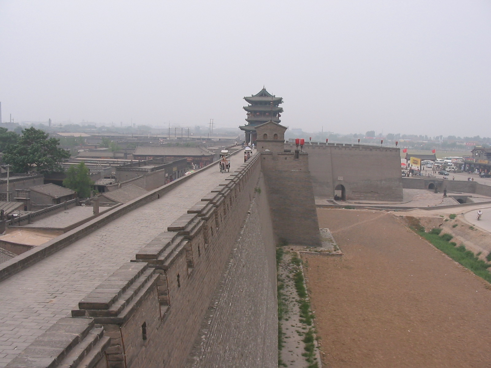 Dewey 39 s china trip photos shanxi pingyao city wall for Big wallpaper for wall