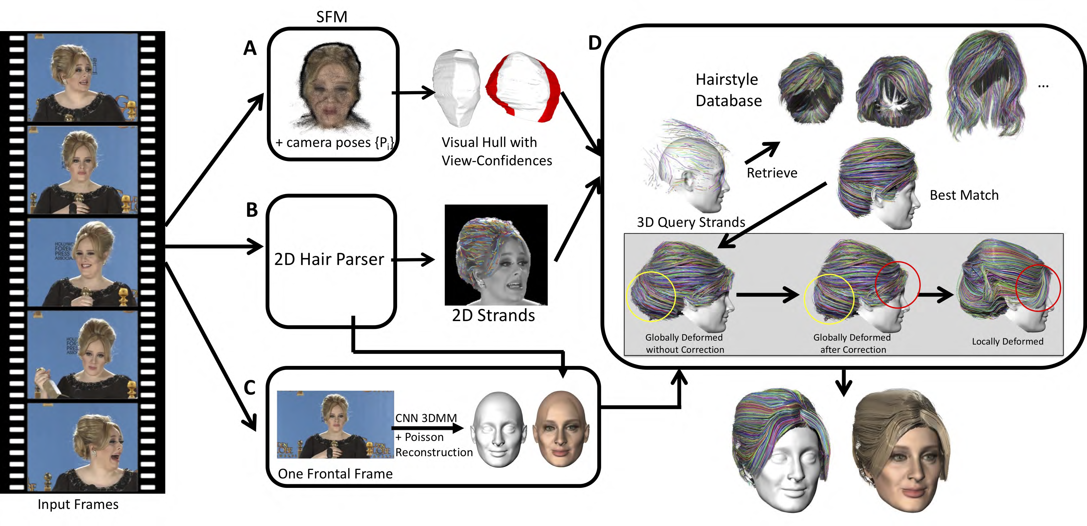 Video to Fully Automatic 3D Hair Model